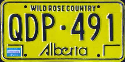 1984 Alberta Q plate